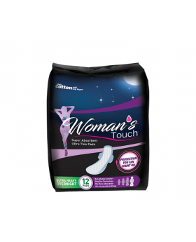 Woman's Touch Ultra Heavy Overnight Pads 12Pk