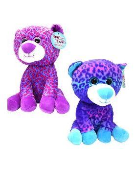 Plush Leopard Toy- Multi-Colored