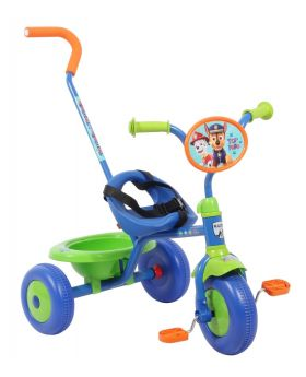 Blue and red paw patrol tricycle