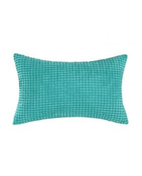 Turquoise Rib Pattern Accent Pillow