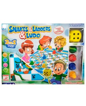 2 in 1 Board Game Set (Snake & Ladder, Ludo)
