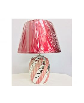 20 cm Ceramic Table Lamp- Silver & Black, Silver & White, Silver & Red-Silver & Red