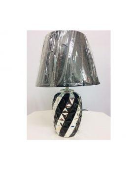 20 cm Ceramic Table Lamp- Silver & Black, Silver & White, Silver & Red-Silver & Black