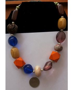 Lilibit Creation Necklace Short to Medium Length Large Prominent Beads - One of a Kind