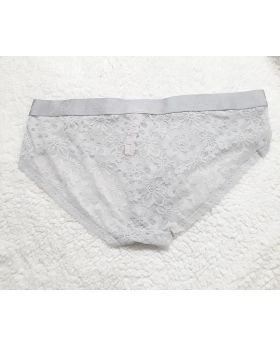 Victoria Secret Hiphugger Lace Panty Grey L