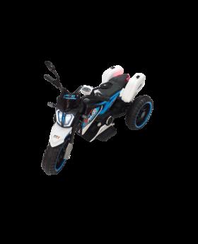 Electric Moto Bike - White & Blue