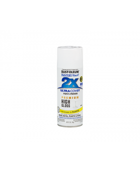 2X Ultra Cover High Gloss Spray Paint 12 oz. White (3 Pack)