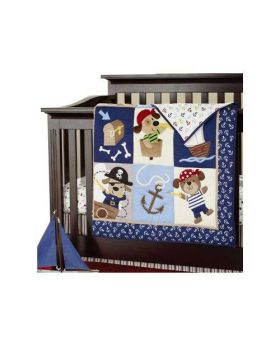 7 Piece Pirate Print Crib Set