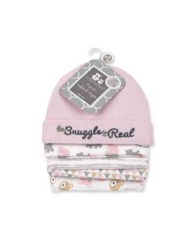 5 Pack Baby Caps - Snuggle Girls