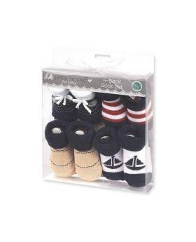 Baby 4 Pack Sock Set (Boys)