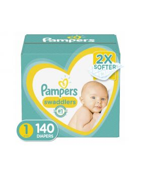 Pampers Swaddlers Size 1 Diapers 140 Count
