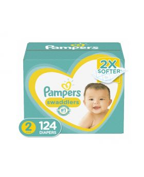 Pampers Swaddlers Size 2 Diapers 124 Count