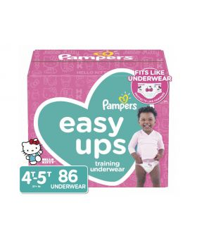 Pampers Easy Ups Girls' Training Underwear 4T-5T 86 Count