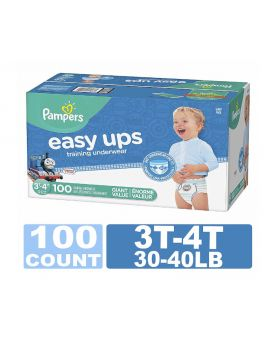 Pampers Easy Ups Boys' Training Underwear 3T-4T 100 Count