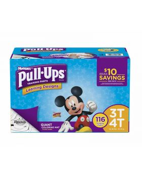 Huggies Pull Ups Training Pants Learning Design Diapers for Boys 3T-4T 116 Count