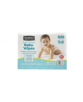 Member's Selection Soft & Gentle Baby Wipes 600 Count