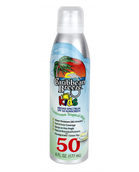 Caribbean Breeze Spf 50 Kids Continuous Tropical Mist Sunscreen