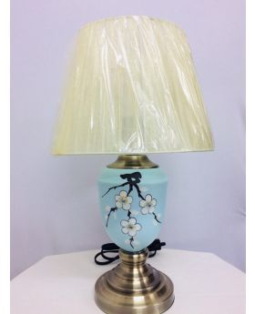 33 Cm Ceramic Table Lamp- Light Blue