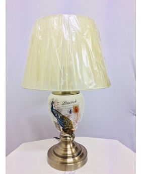 33 Cm Ceramic Table Lamp-Peacock