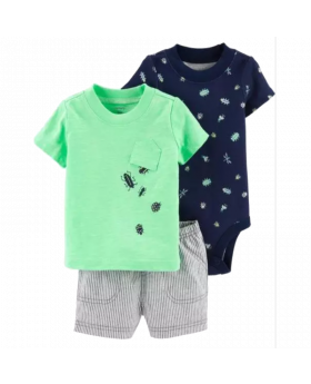 Carter's 3-Piece Little Bug Short Set