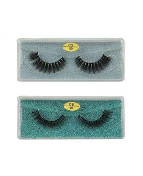 3D Faux Mink lashes Reusable Handmade Natural Lashes False Eyelashes (2 Pairs/Packs)-010