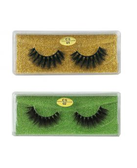 3D Faux Mink lashes Reusable Handmade Natural Lashes False Eyelashes (2 Pairs/Packs)-02