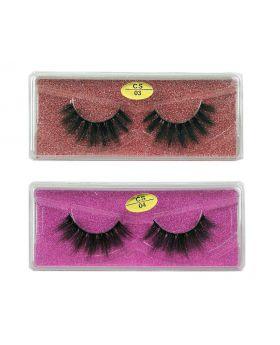 3D Faux Mink lashes Reusable Handmade Natural Lashes False Eyelashes (2 Pairs/Packs)-04