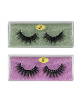 3D Faux Mink lashes Reusable Handmade Natural Lashes False Eyelashes (2 Pairs/Packs)-08