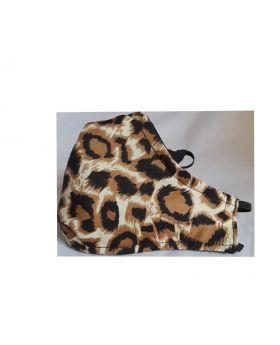 3D Reusable Cotton Face Mask Handmade 3 Pack Leopard/Black