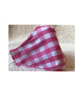 3D Reusable Cotton Face Mask Handmade 3 Layers Pink Plaid