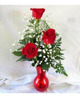 3 Roses arrangement