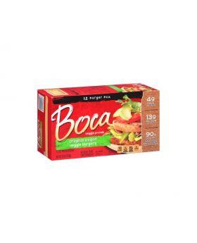 Boca Veggie Protein Original Vegan Veggie Burgers 30 Oz. 12 Count