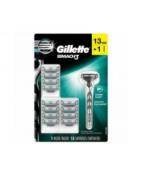 Gillette Mach3 Razor with 13 Replaceable Cartridges