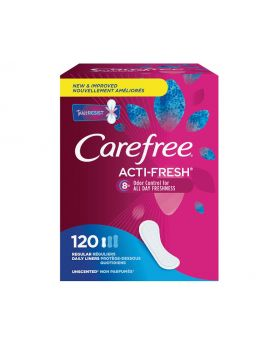 Carefree Acti-Fresh Regular Panty Liners 120 Pack