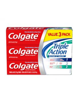 Colgate Triple Action Toothpaste 6 Fl.oz 4 Pack