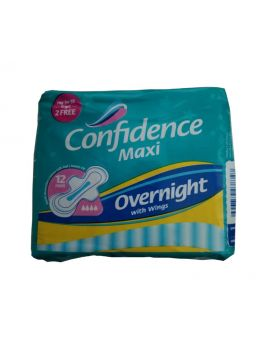 Confidence Maxi Overnight with Wings 72 Pack