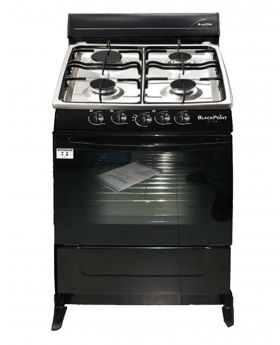 Blackpoint 21 Inch 4 burner Black Steel Gas Stove luxury with heavy grill