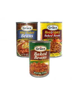 Grace Baked Bean Variety 300g 6 Pack