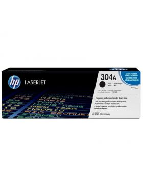 HP 304A Black Original Toner Cartridge (CC530A) in Box