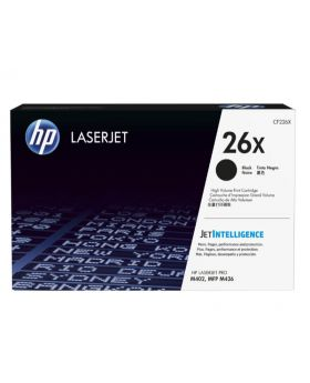 HP 26X High Yield Black Original LaserJet Toner Cartridge (CF226X) in Box
