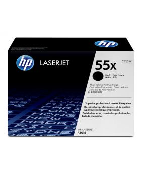 HP 55X High Yield Black Original LaserJet Toner Cartridge (CE255X) in Box