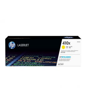 HP 410X Yellow High Yield Original Toner Cartridge (CF412X) in Box