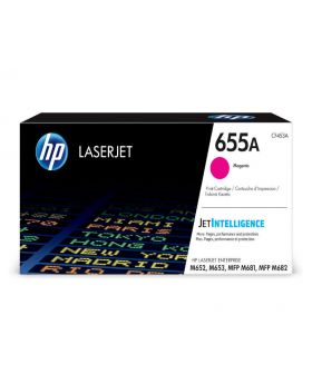 HP 655A Magenta Original LaserJet Toner Cartridge (CF453A) in Box