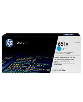 HP 651A Cyan Original LaserJet Toner Cartridge (CE341A) in Box