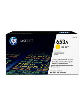 HP 653A Yellow Original LaserJet Toner Cartridge (CF322A) in Box