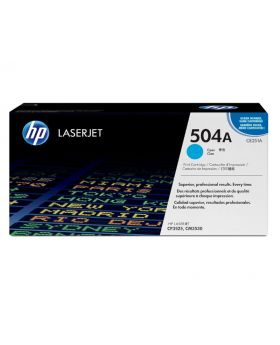 HP 504A Cyan Original LaserJet Toner Cartridge (CE251A) in Box