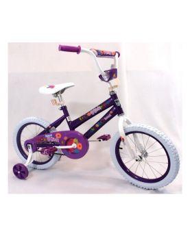 "4-Girls 16"" Purple Bicycle"