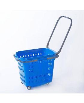 Blue 4 Wheels Shopping Baskets