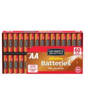 Member's Selection AA Alkaline Batteries 60 Units