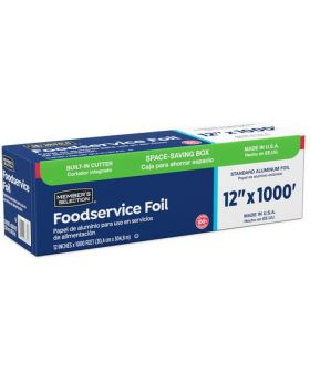 Member's Selection Foodservice Foil 30.4 cm x 304.8 m/12 in x 1000 Ft.